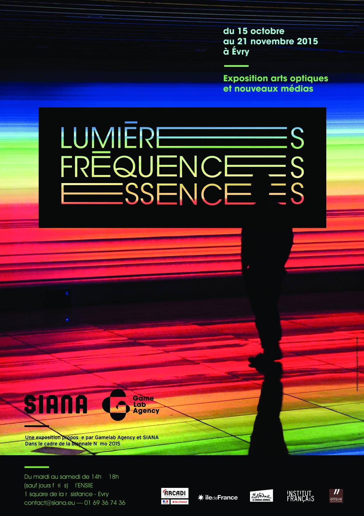 Affiche exposition Lumières. Fréquences. Essences