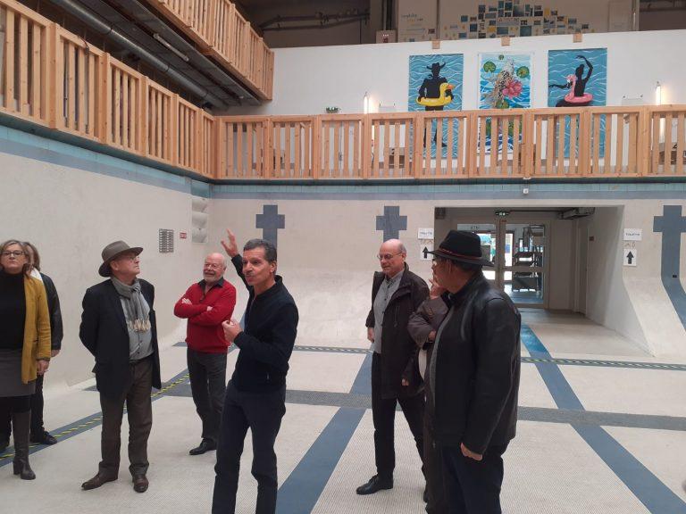 Visite du lieu accompagnée par Marc Williams Debono, Président du Collectif pour la culture en Essonne.