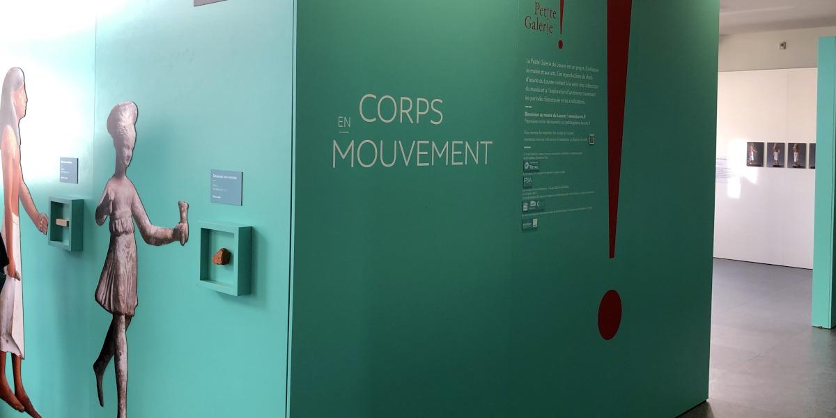 """Petite Galerie du Louvre, """"Corps en Mouvement"""", Atelier Canopé"""