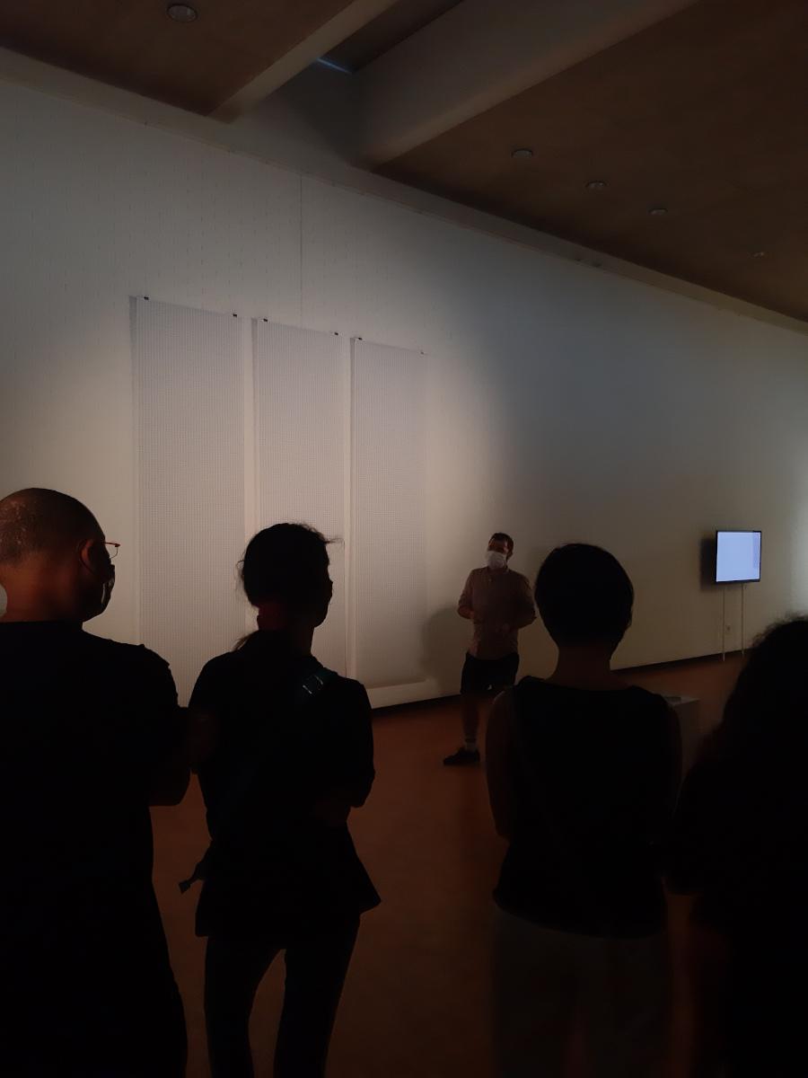 Jour de lancement de l'exposition, visite guidée par Tomek Jarolim