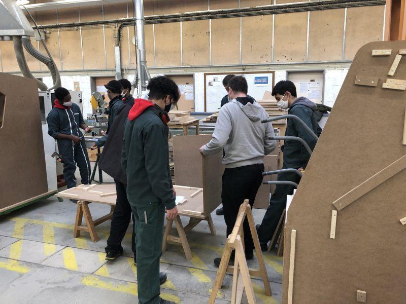 Création de bornes d'arcade au Lycée Auguste Perret, Evry
